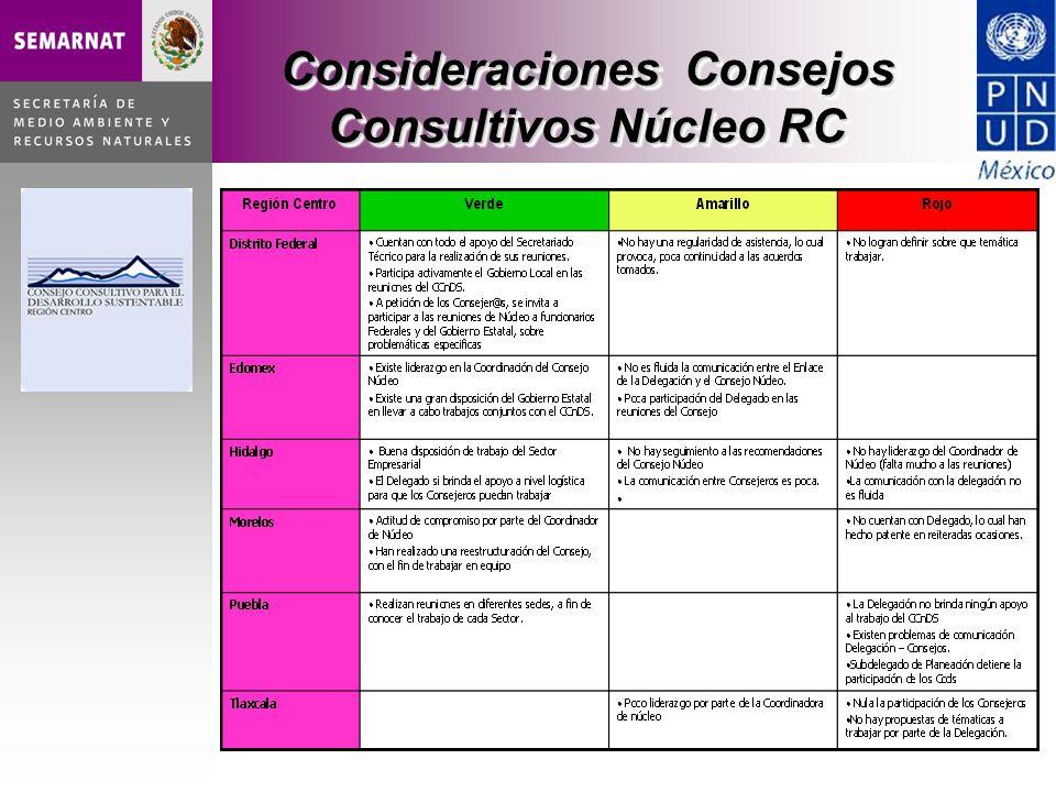 Consideraciones Consejos Consultivos Núcleo RC