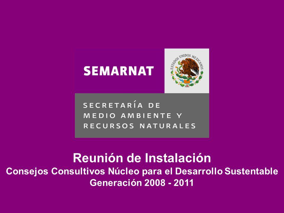Reunión de Instalación Consejos Consultivos Núcleo para el Desarrollo Sustentable Generación 2008 - 2011