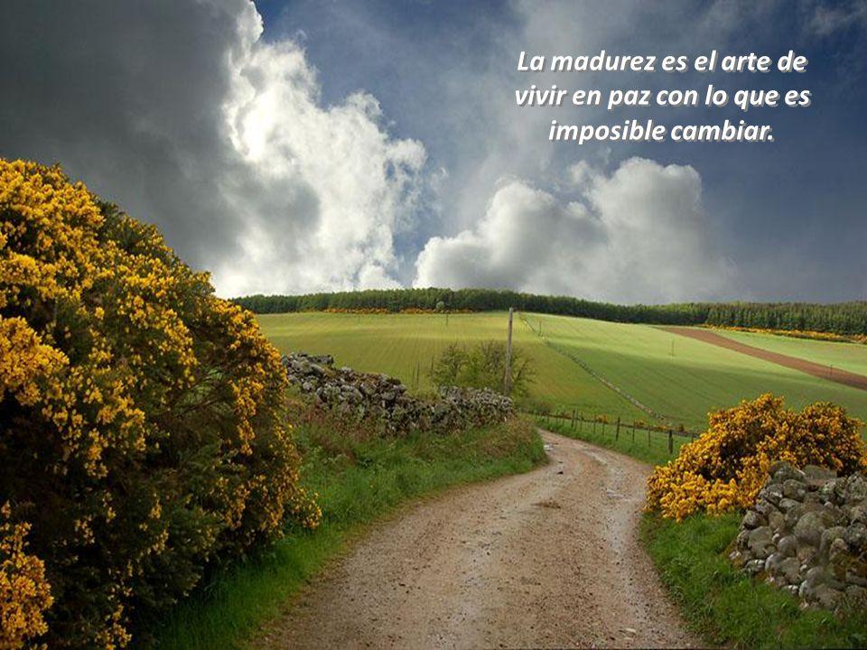 La madurez es el arte de vivir en paz con lo que es imposible cambiar.