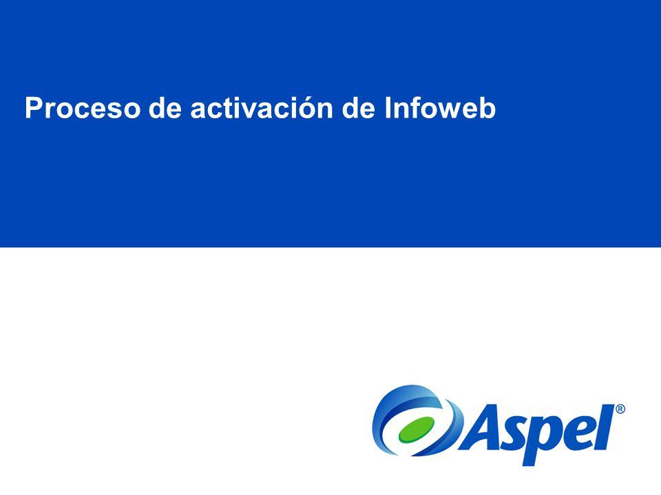 Proceso de activación de Infoweb