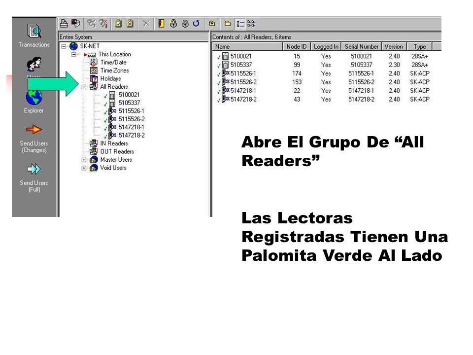 Abre El Grupo De All Readers Las Lectoras Registradas Tienen Una Palomita Verde Al Lado