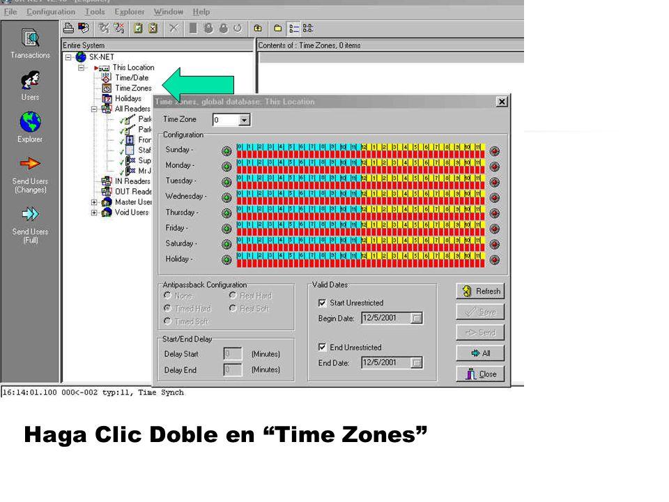 Haga Clic Doble en Time Zones
