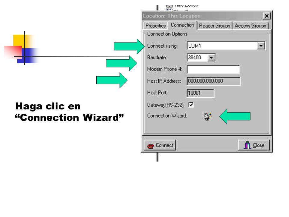 Haga clic en Connection Wizard