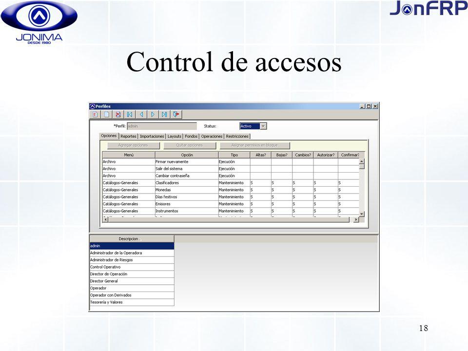 18 Control de accesos