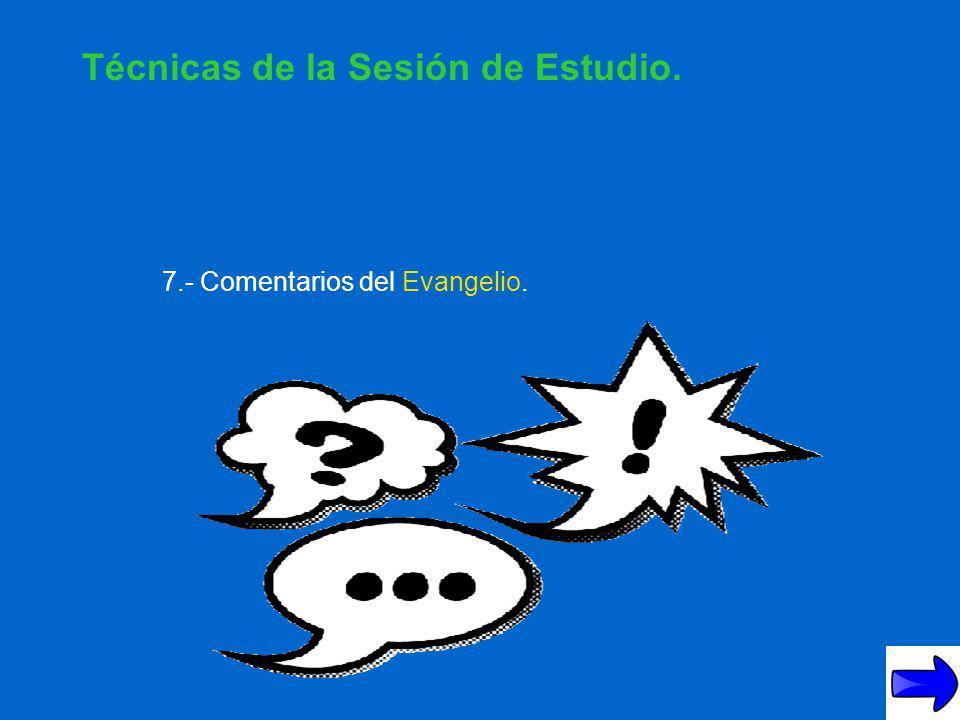6.- Bandos. Técnicas de la Sesión de Estudio.