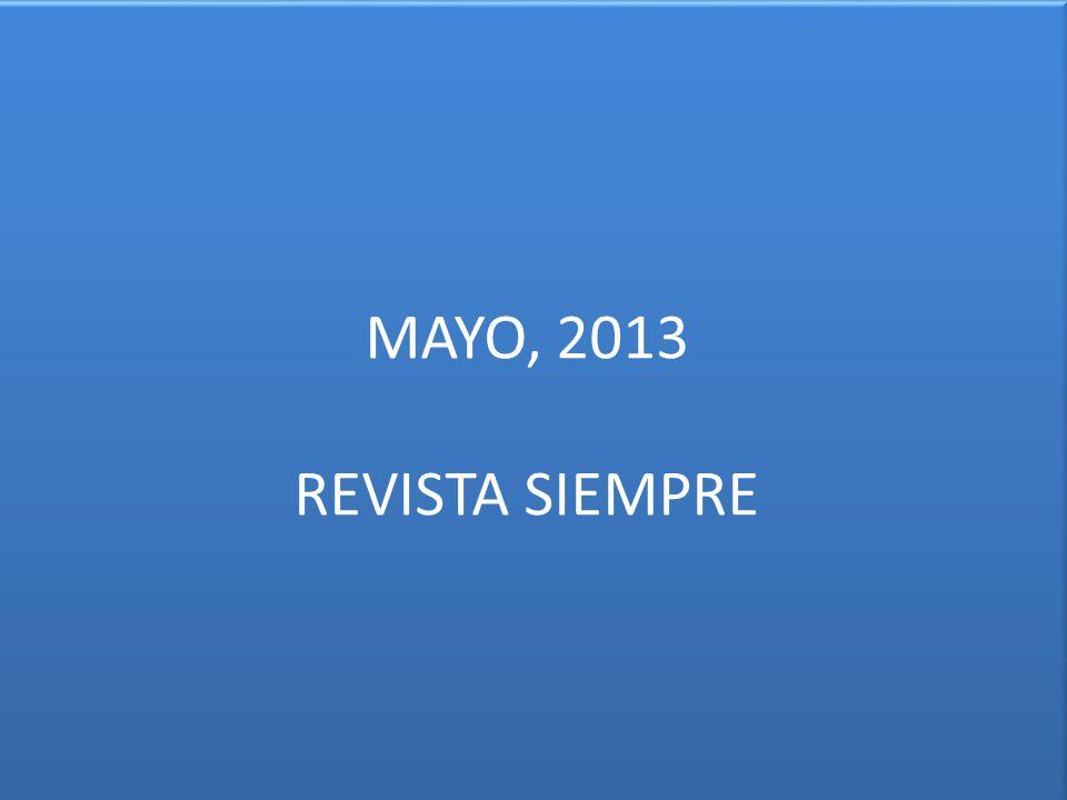 MAYO, 2013 REVISTA SIEMPRE