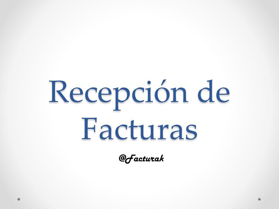 Recepción de Facturas