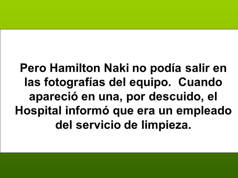 Pero Hamilton Naki no podía salir en las fotografías del equipo.