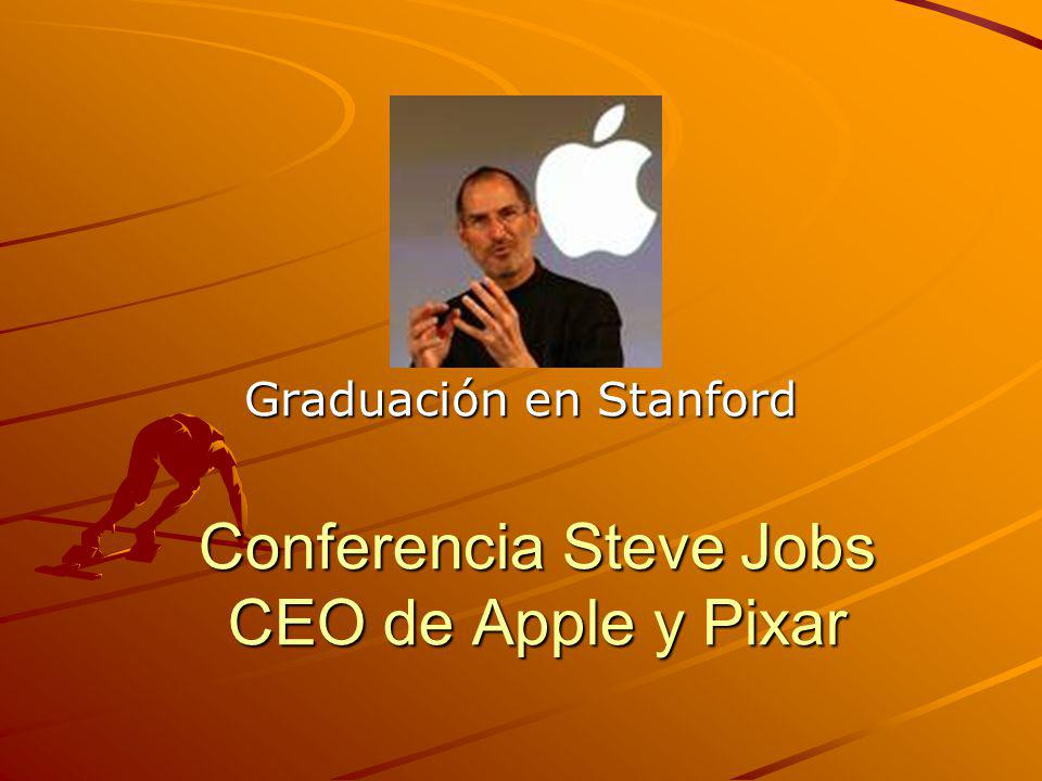 Conferencia Steve Jobs CEO de Apple y Pixar Graduación en Stanford