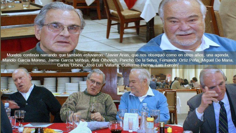 Morelos, coordinador de la Gen 54 nos dice: que la Comida del 15 de diciembre 2011 estuvo super concurrida