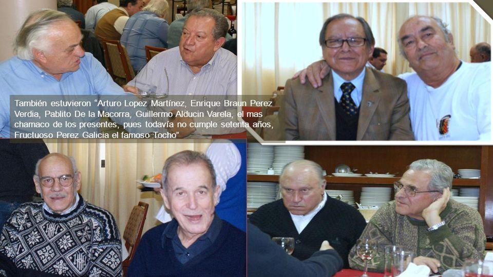 Morelos continúa narrando que también estuvieron: Javier Arias, que nos obsequió como en otros años, una agenda, Manolo Garcia Moreno, Jaime Garcia Ve