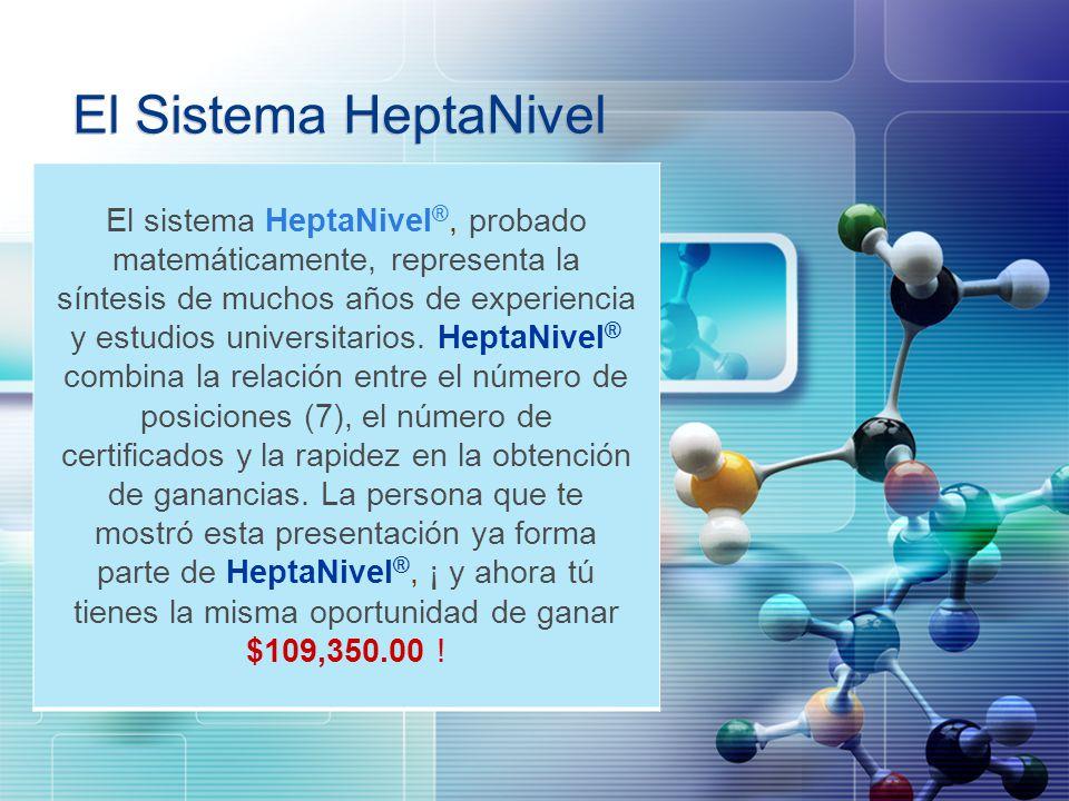 LOGO El Sistema HeptaNivel El sistema HeptaNivel ®, probado matemáticamente, representa la síntesis de muchos años de experiencia y estudios universit
