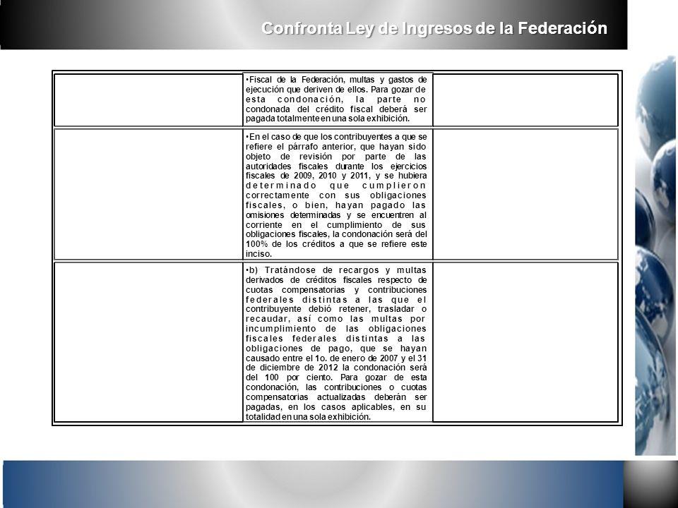 Fiscal de la Federación, multas y gastos de ejecución que deriven de ellos. Para gozar de esta condonación, la parte no condonada del crédito fiscal d