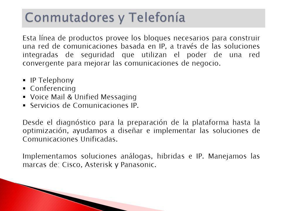 Esta línea de productos provee los bloques necesarios para construir una red de comunicaciones basada en IP, a través de las soluciones integradas de