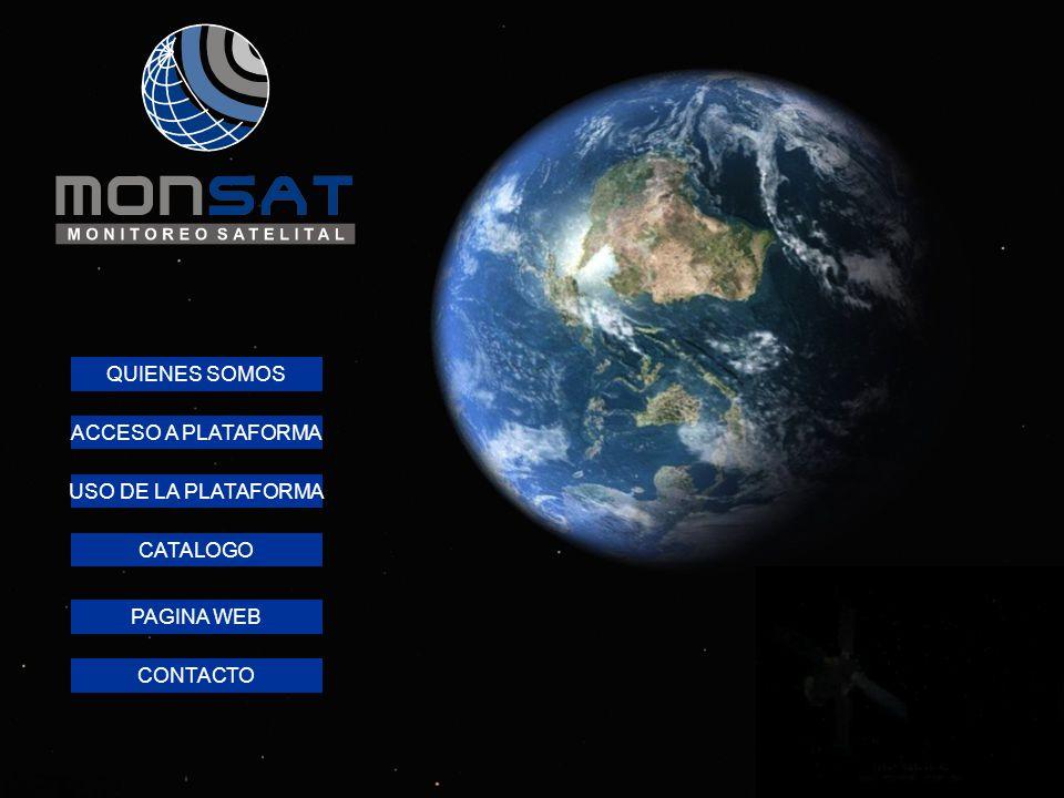QUIENES SOMOS USO DE LA PLATAFORMA ACCESO A PLATAFORMA PAGINA WEB CONTACTO CATALOGO