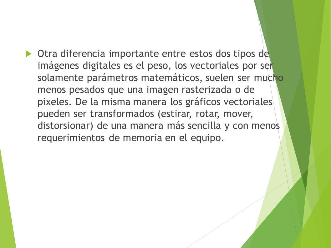 Formatos gráficos vectoriales Los archivos vectoriales almacenados en formato original son escalables y los diseñadores pueden cambiar sus colores para incorporar la imagen en cualquier diseño.