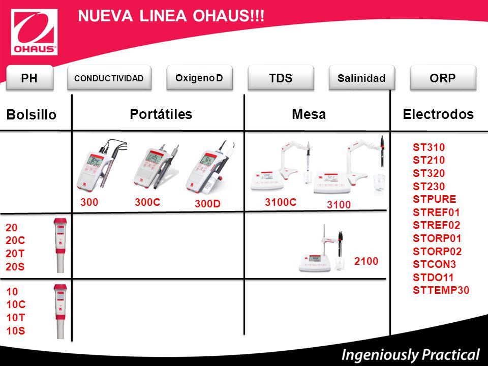 MesaPortátiles 3100 2100 300 3100C 300C 300D Bolsillo NUEVA LINEA OHAUS!!.