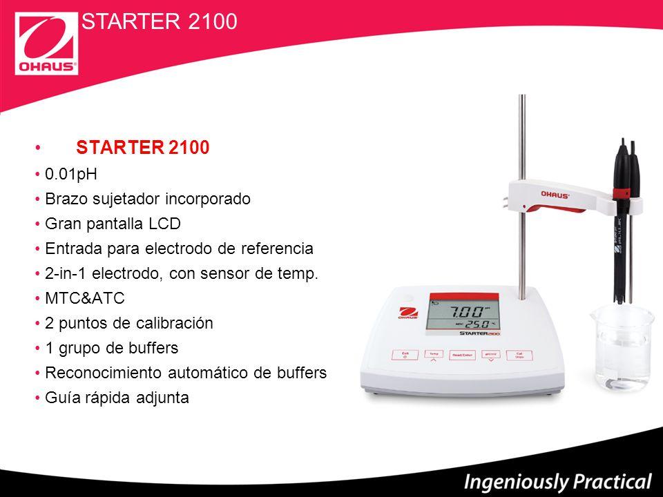 STARTER 3100C Medidor de Conductividad, Salinidad y TDS ± 0.5 % F.S.