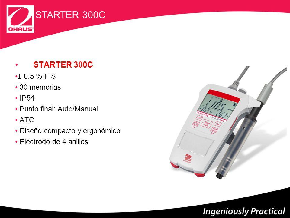 Starter 300D Internal use only 8 STARTER 300D 30 memorias IP54 Punto final: Auto/Manual ATC Diseño compacto y ergonómico Pantalla LCD ELECTRODO GALVANICO