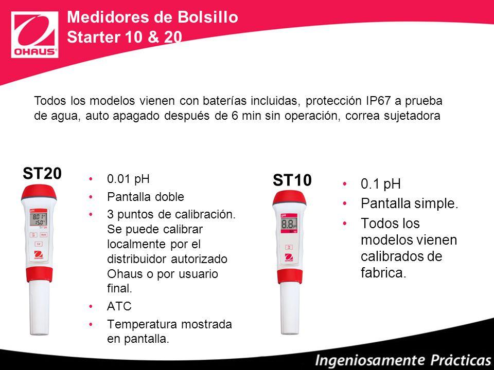 Medidores de Bolsillo Starter 10 & 20 ST10 0.1 pH Pantalla simple.