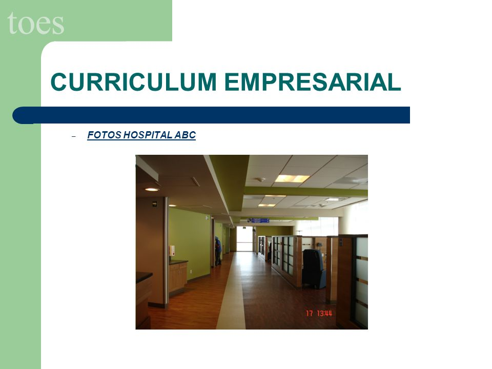 toes CURRICULUM EMPRESARIAL – FOTOS HOSPITAL ABC