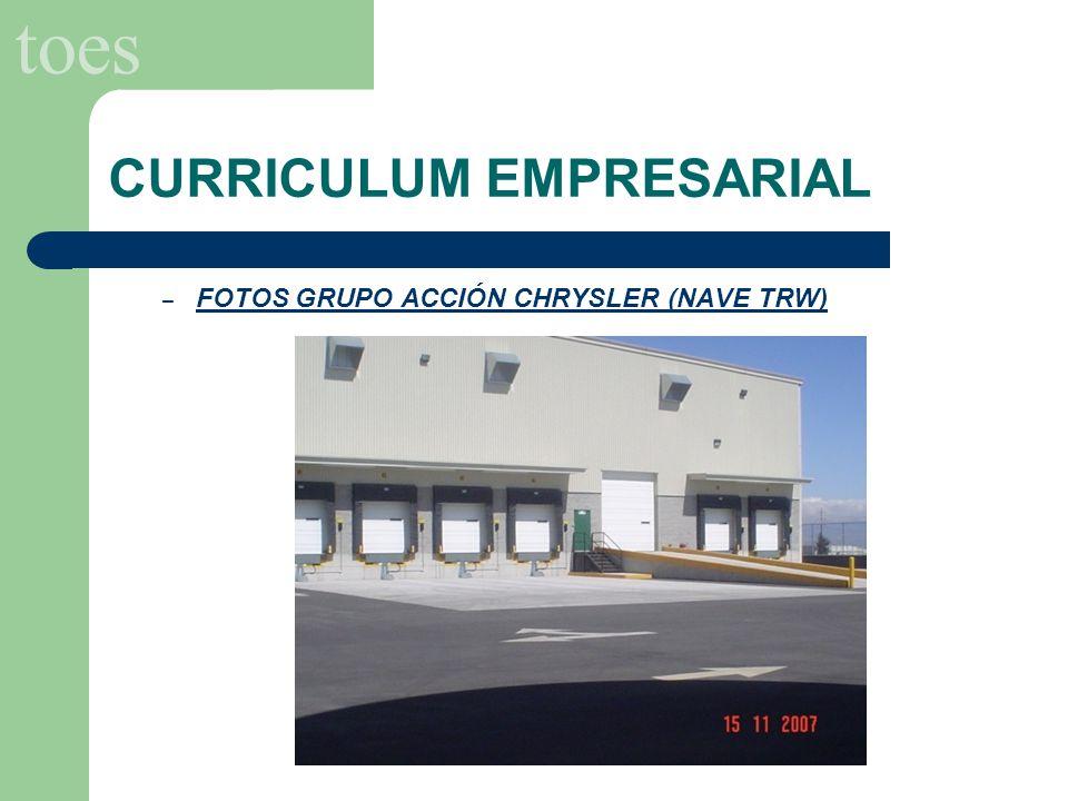 toes CURRICULUM EMPRESARIAL SECTOR INICIATIVA PRIVADA: – GRUPO ACCIÓN CHRYSLER (NAVE GESTAMP) Suministro y Aplicación de pintura Dry Fall en estructura.