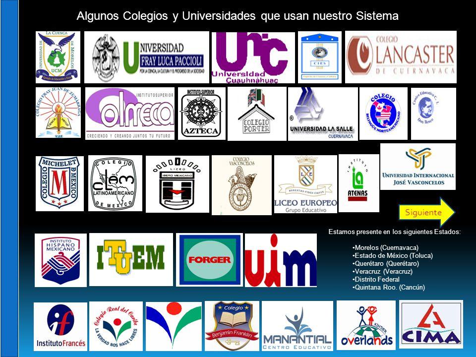 Estamos presente en los siguientes Estados: Morelos (Cuernavaca) Estado de México (Toluca) Querétaro (Querétaro) Veracruz (Veracruz) Distrito Federal