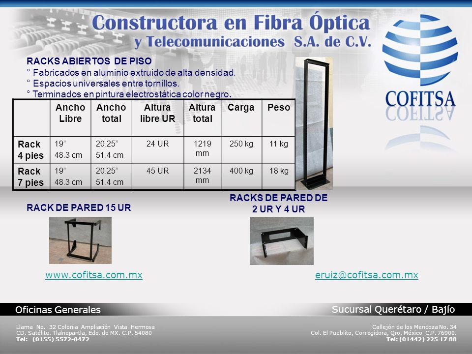 Sucursal Querétaro / Bajío Oficinas Generales Llama No. 32 Colonia Ampliación Vista Hermosa CD. Satélite. Tlalnepantla, Edo. de MX. C.P. 54080 Tel: (0