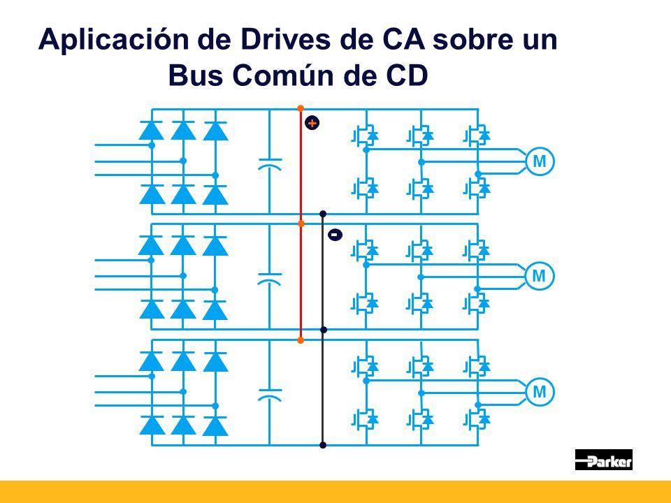 Aplicación de Drives de CA sobre un Bus Común de CD M M M + -