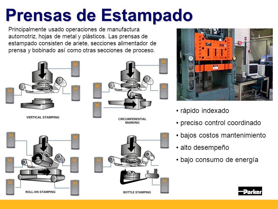 Prensas de Estampado Principalmente usado operaciones de manufactura automotriz, hojas de metal y plásticos.
