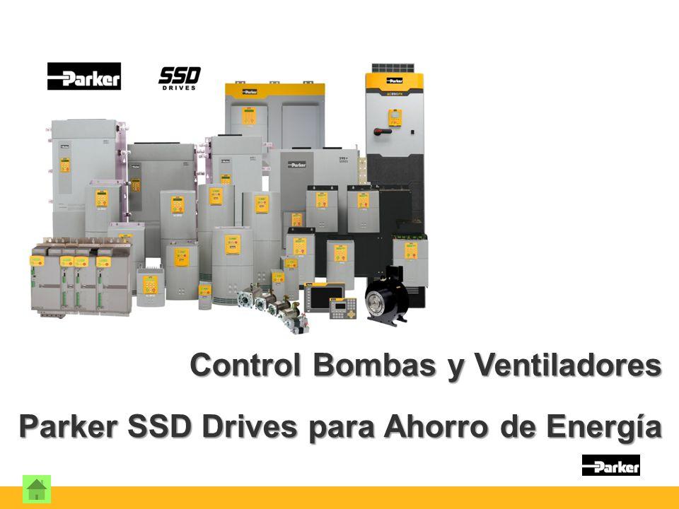 Control Bombas y Ventiladores Parker SSD Drives para Ahorro de Energía