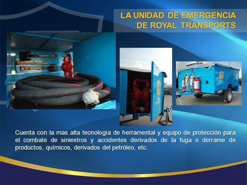 Cuenta con la mas alta tecnología de herramental y equipo de protección para el combate de siniestros y accidentes derivados de la fuga o derrame de p