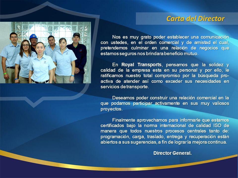 ACERCA DE NOSOTROS ROYAL TRANSPORTS S.A.de C.V.