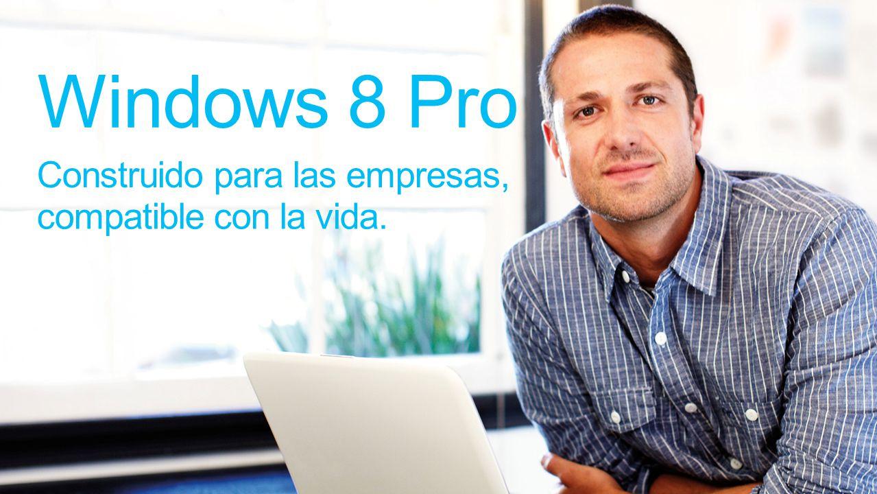 Windows 8 Pro Construido para las empresas, compatible con la vida.
