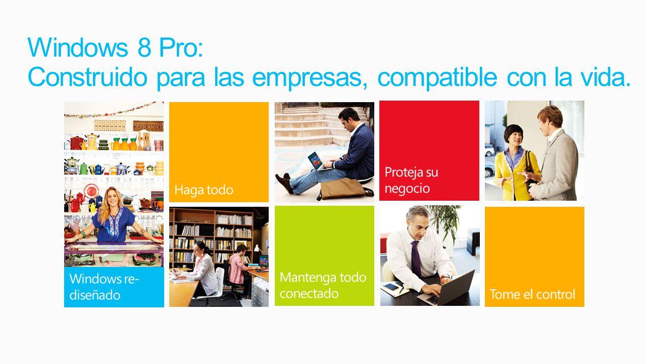 Windows 8 Pro: Construido para las empresas, compatible con la vida.