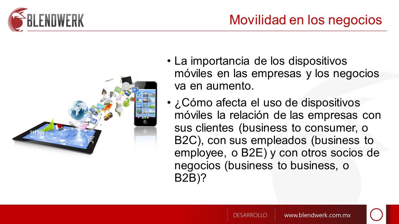 Movilidad en los negocios La importancia de los dispositivos móviles en las empresas y los negocios va en aumento.