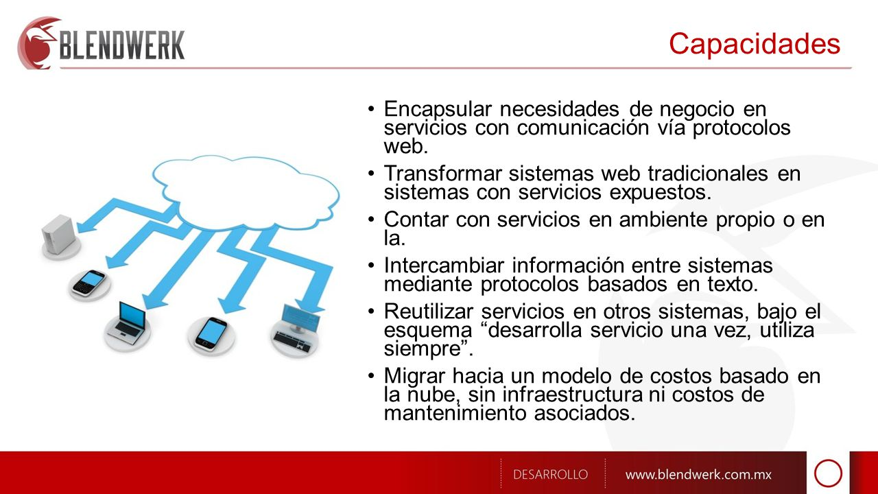 Tecnologías Servicios con Windows Communication Foundation, y Microsoft.NET Framework.