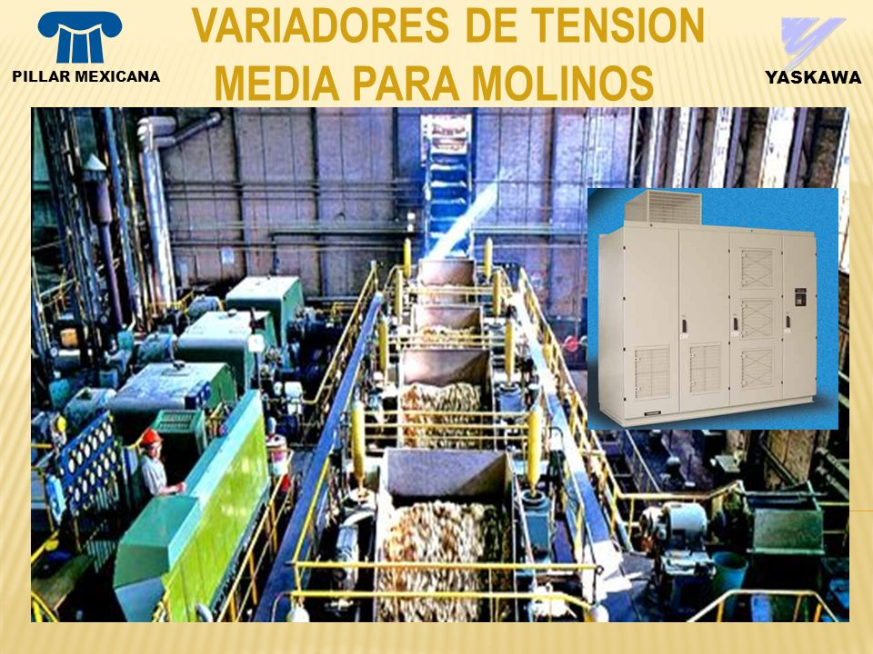 YASKAWA VARIADORES DE TENSION MEDIA PARA MOLINOS PILLAR MEXICANA