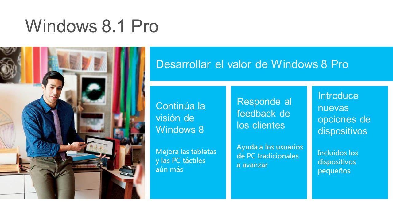 Brinda la experiencia de quiosco Acceso asignado (quiosco) Permite una experiencia de aplicación única de la Tienda Windows en el dispositivo Accede solo a esa aplicaciones y no a archivos del sistema y otras aplicaciones Industria de Windows 8.1 incrustado: más capacidades de bloqueo del dispositivo (cajeros automáticos, etc.)