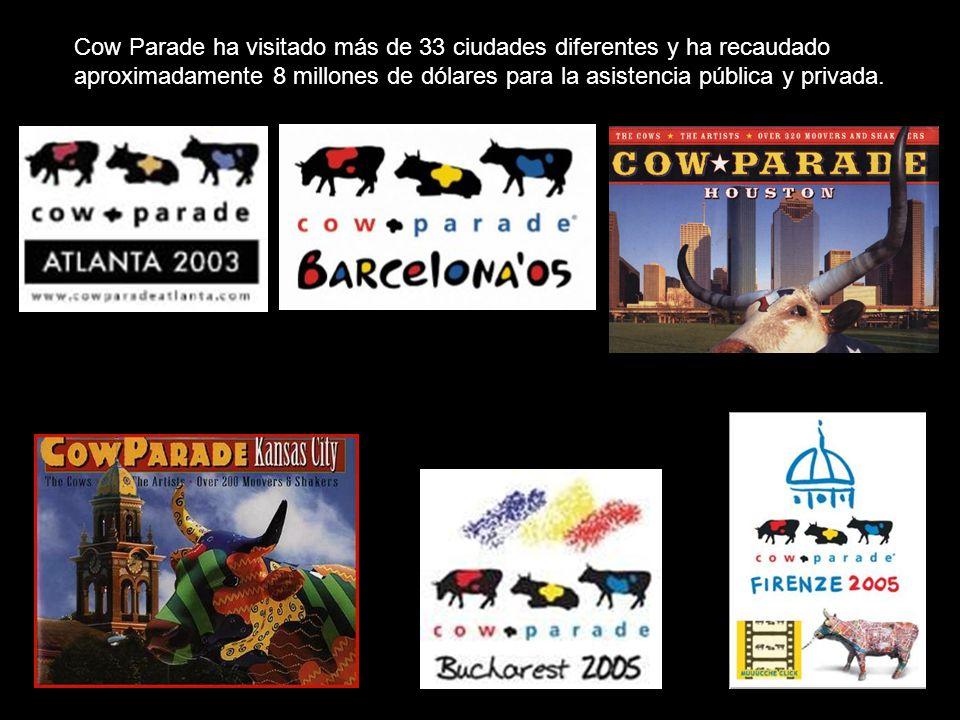 Cow Parade ha visitado más de 33 ciudades diferentes y ha recaudado aproximadamente 8 millones de dólares para la asistencia pública y privada.