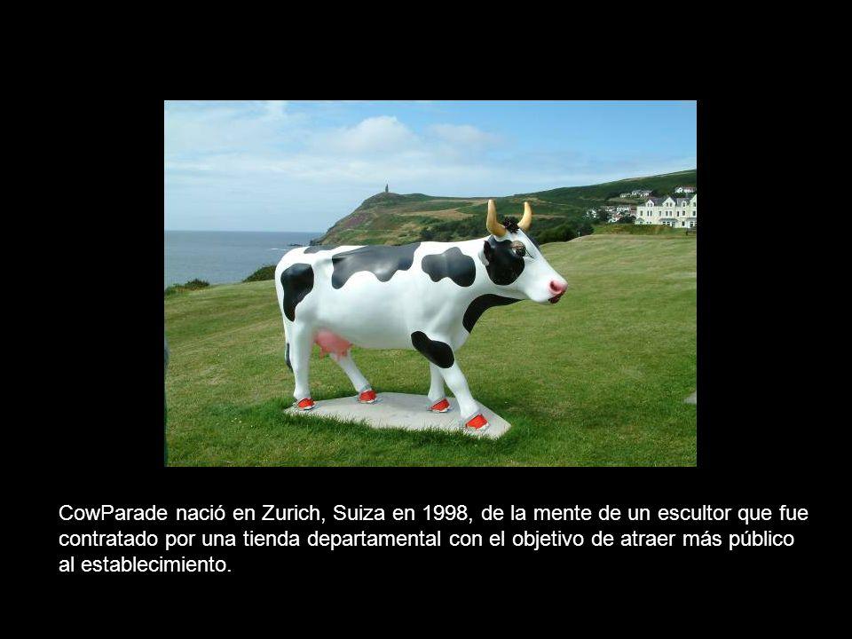 CowParade nació en Zurich, Suiza en 1998, de la mente de un escultor que fue contratado por una tienda departamental con el objetivo de atraer más púb
