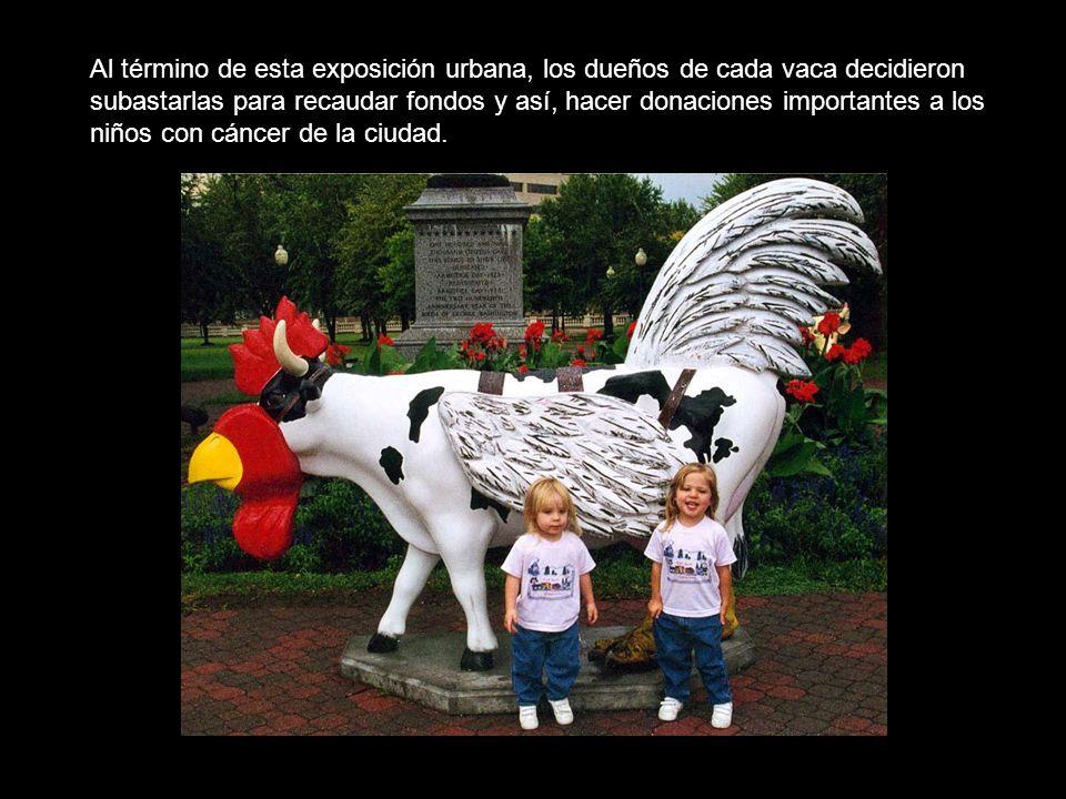 Al término de esta exposición urbana, los dueños de cada vaca decidieron subastarlas para recaudar fondos y así, hacer donaciones importantes a los ni