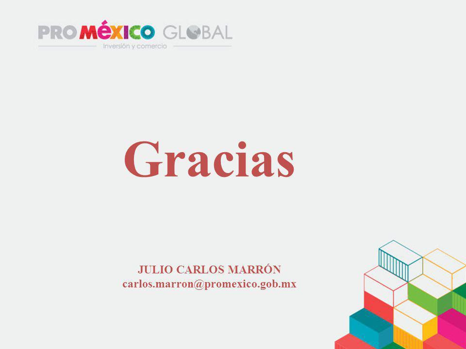 JULIO CARLOS MARRÓN carlos.marron@promexico.gob.mx Gracias