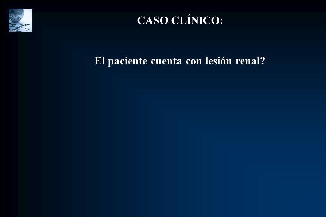 CASO CLÍNICO: El paciente cuenta con lesión renal?
