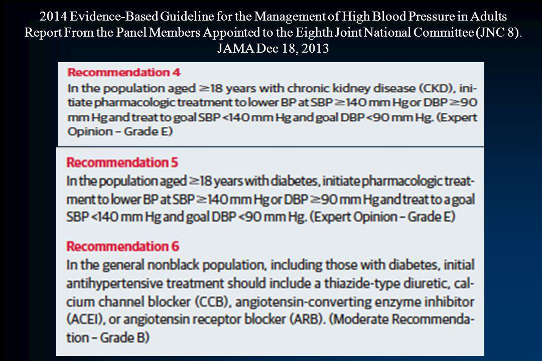 2014 Evidence-Based Guideline for the Management of High Blood Pressure in Adults Report From the Panel Members Appointed to the Eighth Joint National