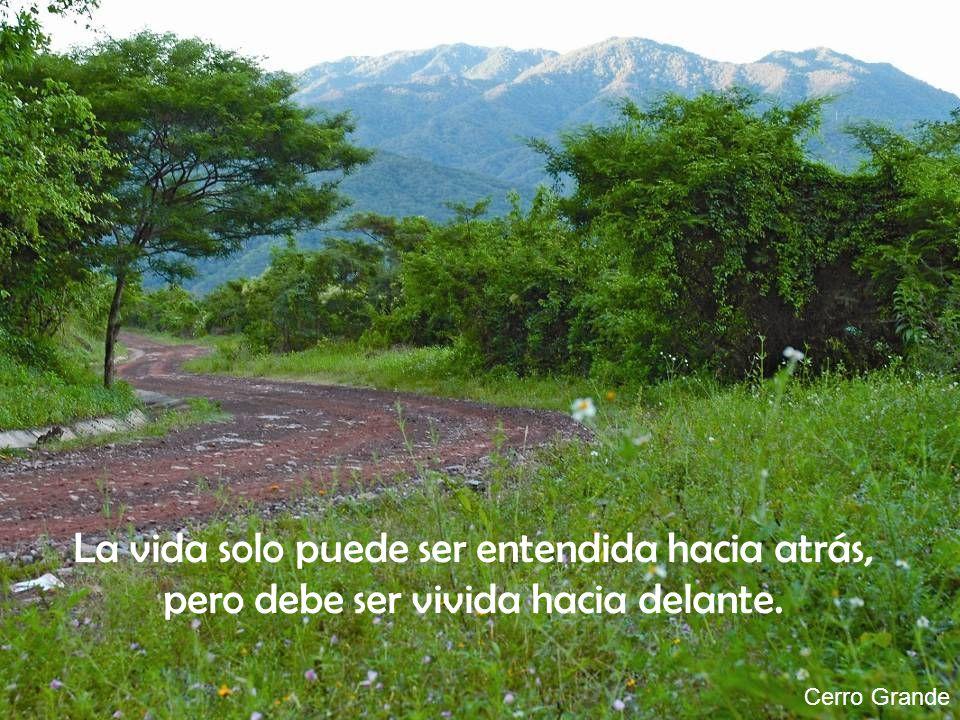Cerro Grande La vida solo puede ser entendida hacia atrás, pero debe ser vivida hacia delante.