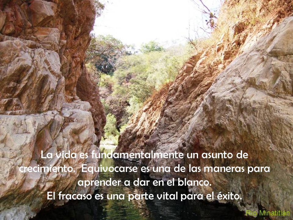 Río Minatitlán La vida es fundamentalmente un asunto de crecimiento. Equivocarse es una de las maneras para aprender a dar en el blanco. El fracaso es