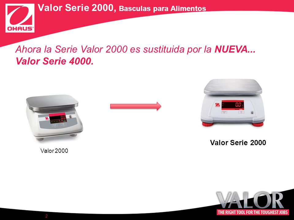 2 Valor Serie 2000, Basculas para Alimentos Valor 2000 Ahora la Serie Valor 2000 es sustituida por la NUEVA...