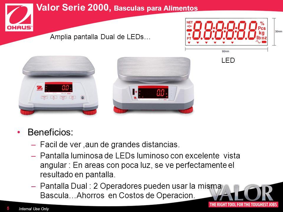 Amplia pantalla Dual de LEDs… Beneficios: –Facil de ver,aun de grandes distancias.