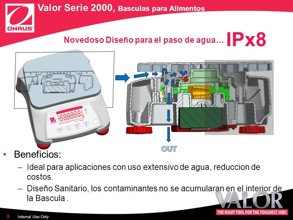 Novedoso Diseño para el paso de agua… Beneficios: –Ideal para aplicaciones con uso extensivo de agua, reduccion de costos.